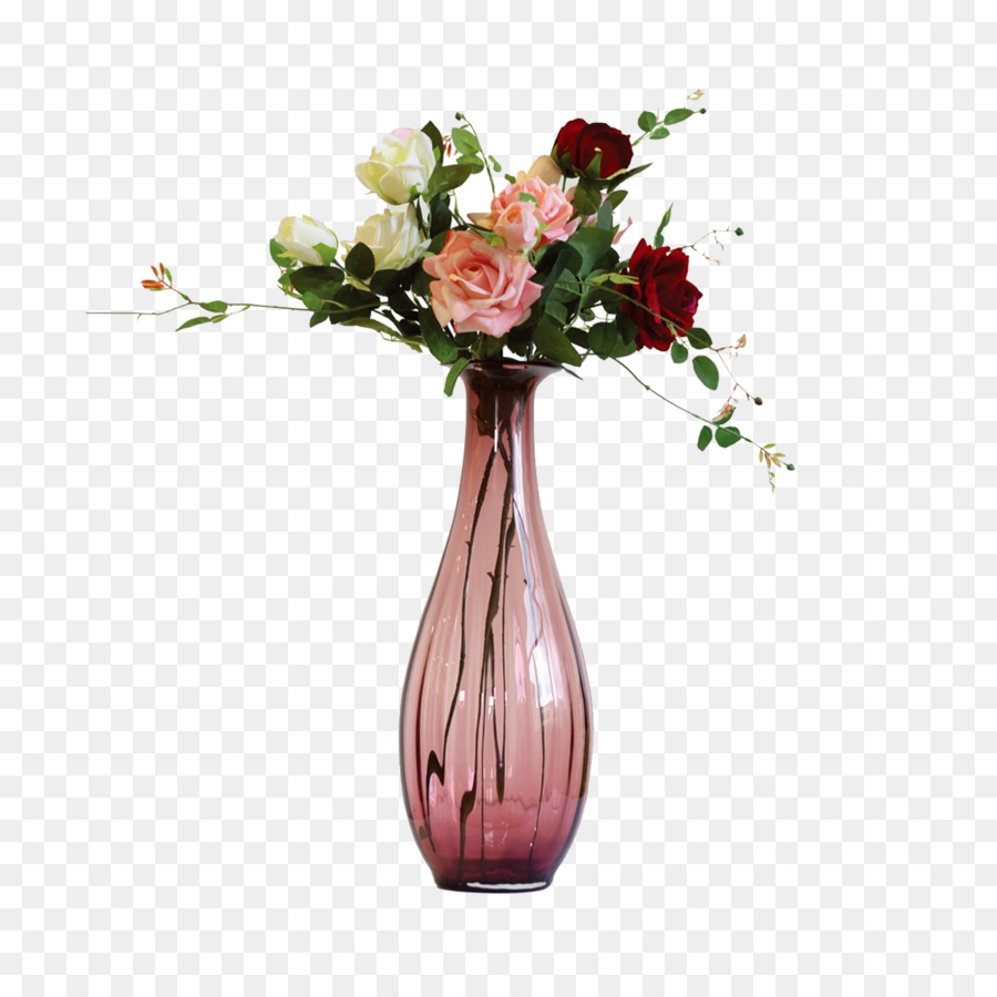 Vase Glass Flower Pink Vase Png Download 23622362 Free