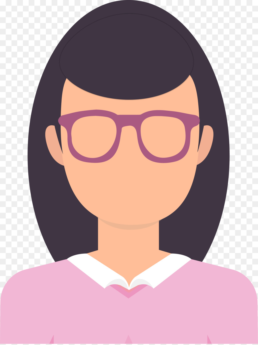 glasses eye avatar a vector woman with glasses png download 2246