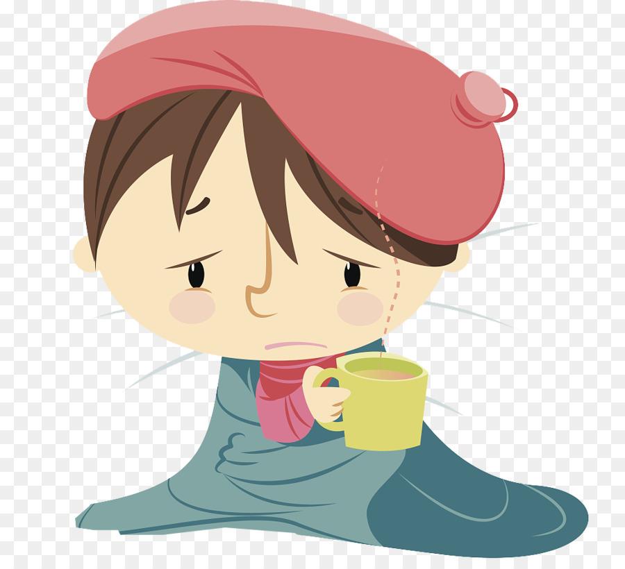 Child Influenza Illustration Cartoon Sick Baby With