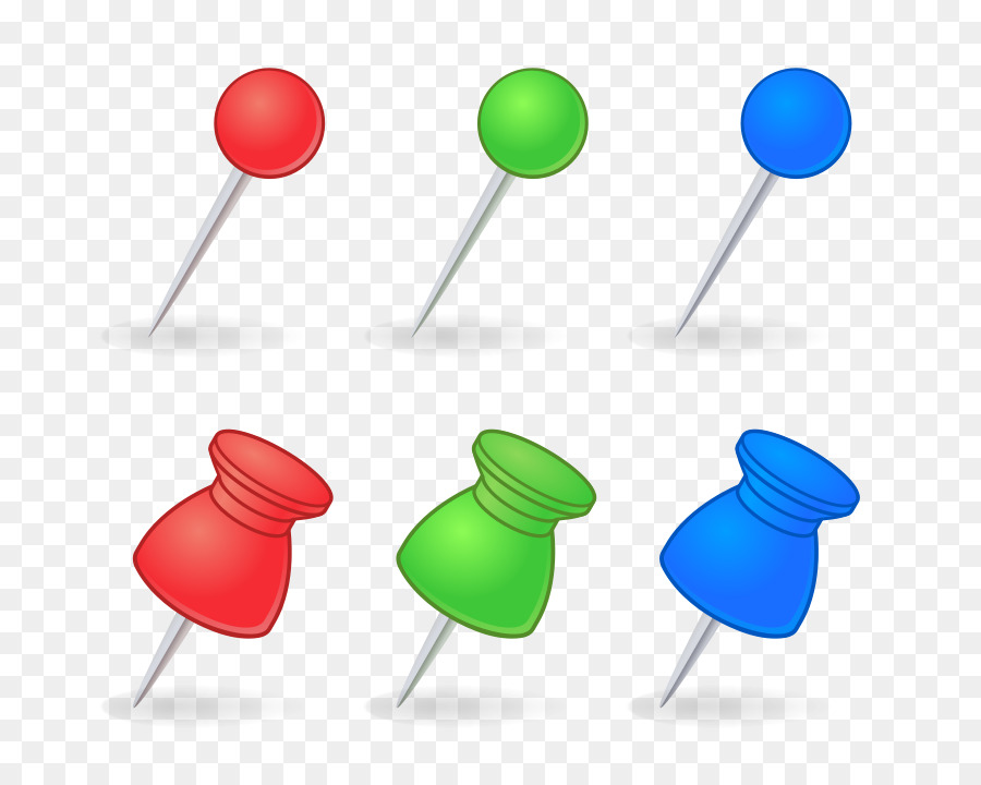 Paper Drawing pin Clip art - pushpin png download - 1280