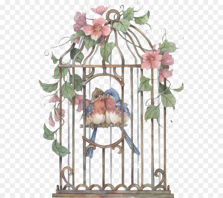 Kuş Kafesi Kuş Kafesi Simgesi El Boyalı Kafes Png Indir 585800