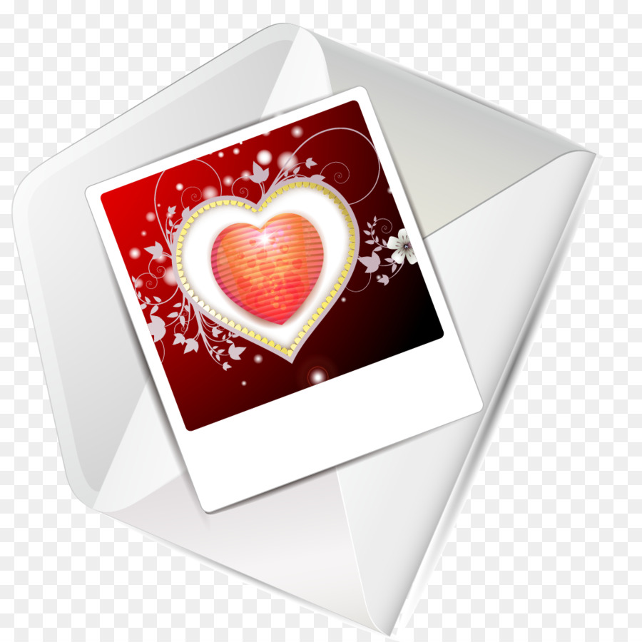 Valentines Day Greeting Card Heart Valentine Envelope Vector Png