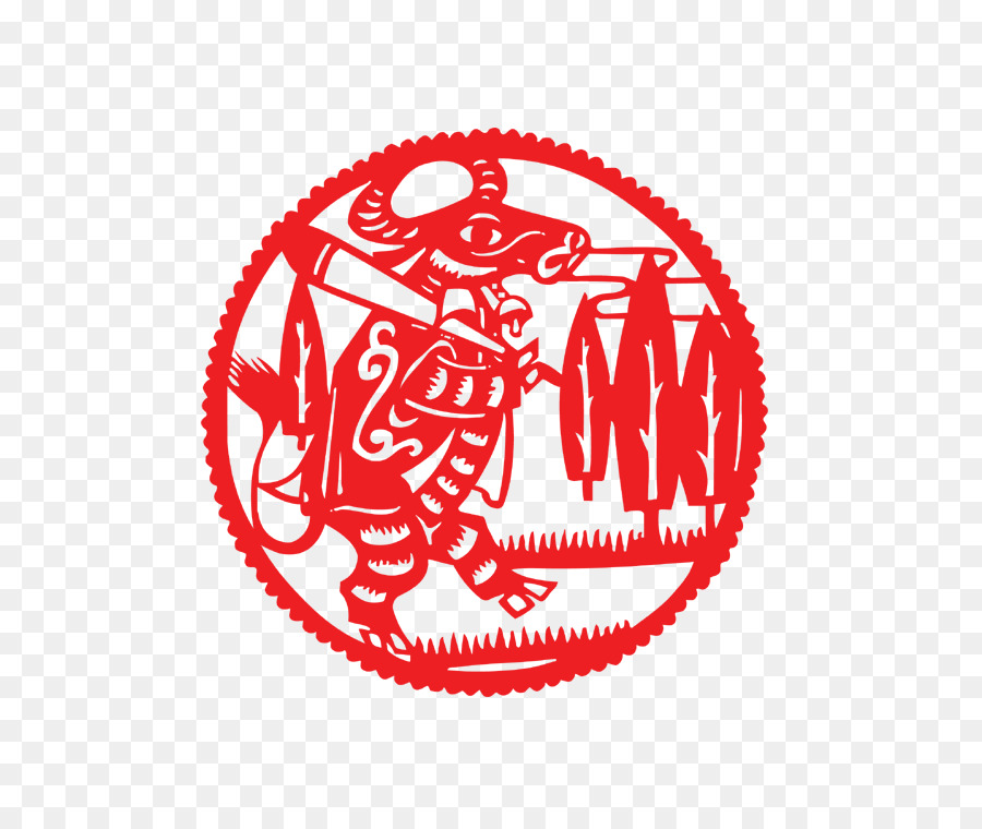 Papercutting Chinese Zodiac Ox Chinese New Year Rat Paper Cut Cow