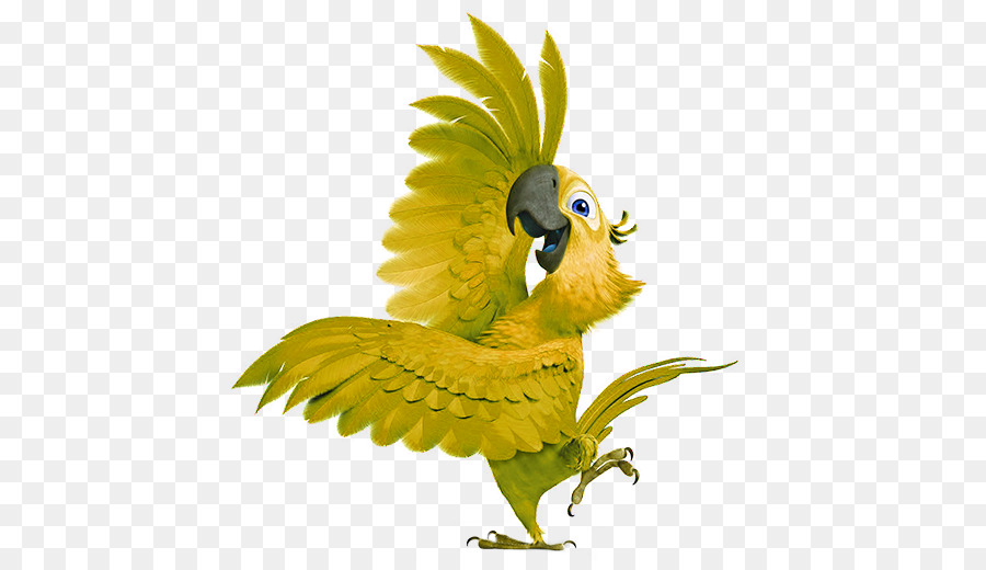 Blu Nigel Rio Animation Clip art - Green cartoon parrot decorative ...