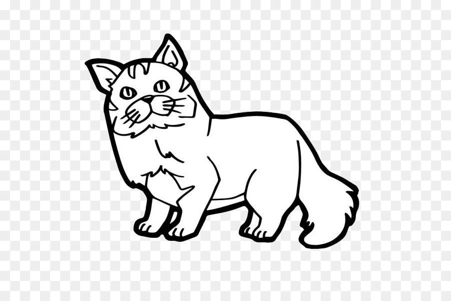 Gato Gatito para Colorear la Ilustración de libros - Simple gato de ...