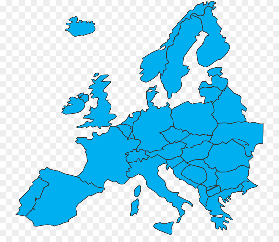Europe Map Clip Art   Blue Cartoon Area Of The Earth