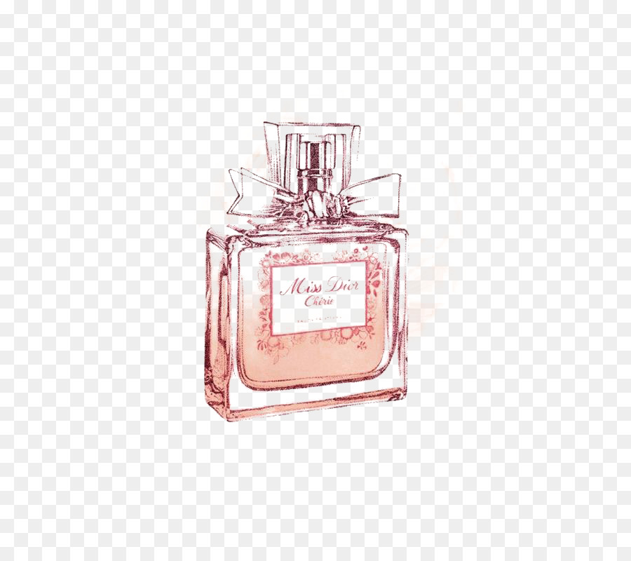 Chanel No 5 Perfume Drawing Miss Dior Pink Perfume Png Download