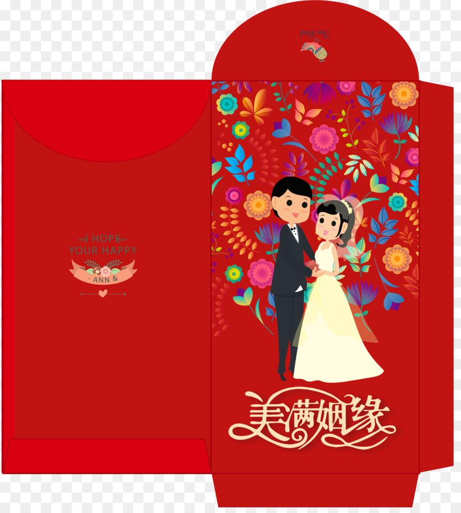 Red envelope Wedding - Original wedding red envelope,Marry gift red ...