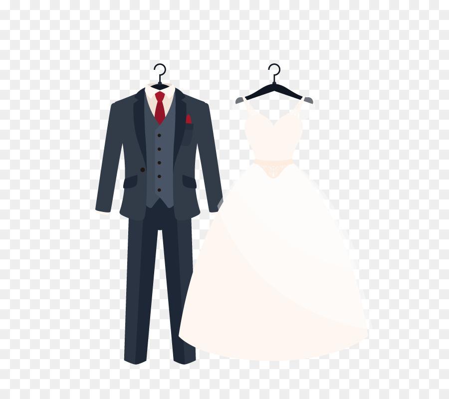 Suit Wedding dress Clothing Formal wear - Vector wedding dress png ...