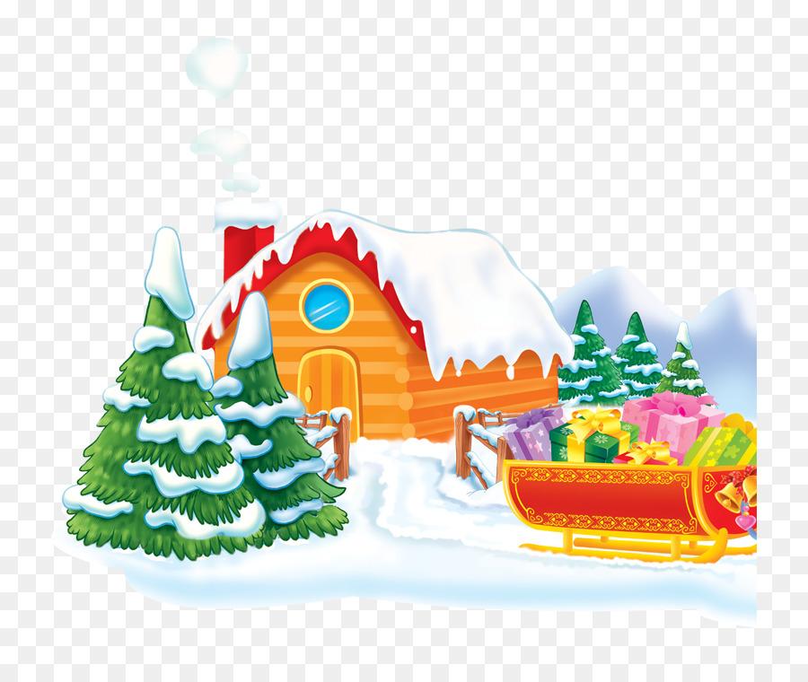 Christmas Santa Claus Holiday greetings Happiness - house,snowflake ...