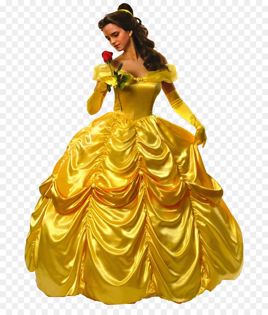 Belle Beast Dress Costume Disney Princess - Bride wedding png ...