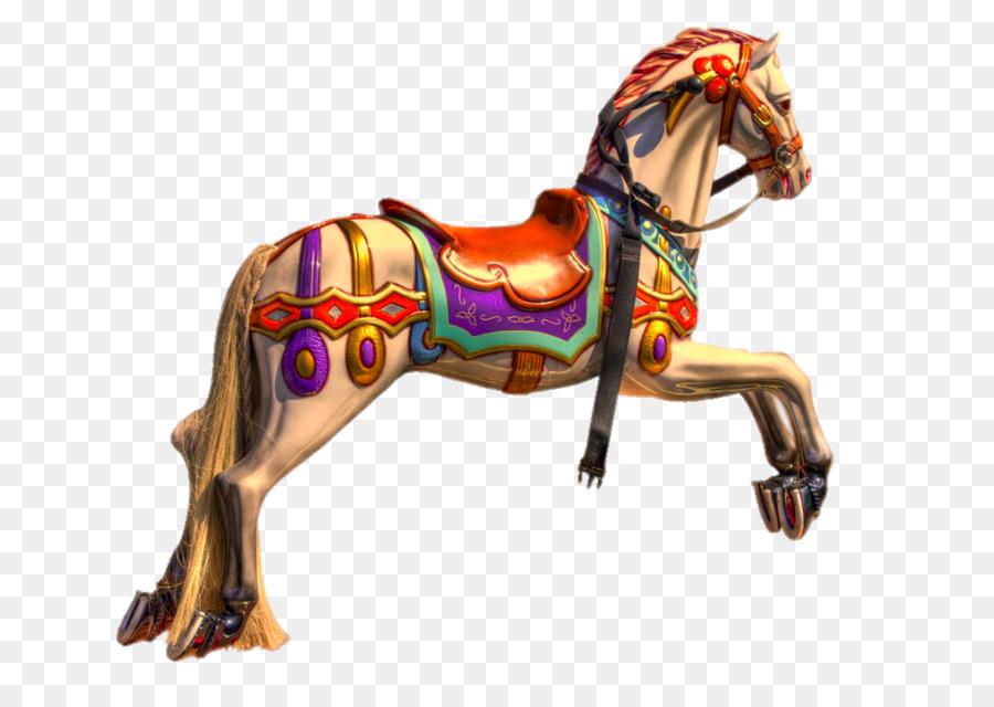 Santa Monica Pier Horse Carousel Stock Photography Royalty Free