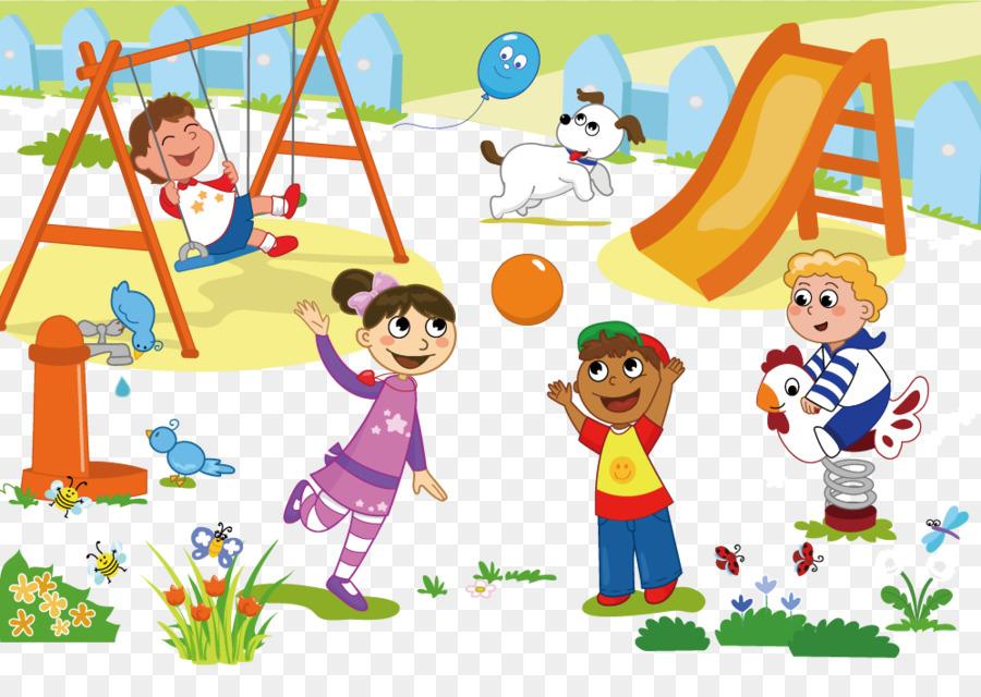 Schoolyard Playground Child Clip art - Cartoon children ...