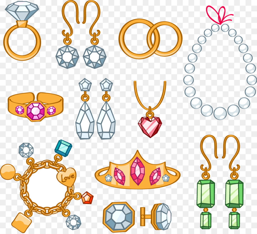 jewellery cartoon necklace clip art jewelry png download 1181