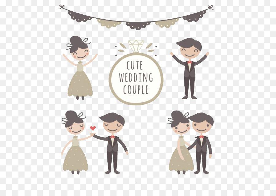 Brautpaar Ehe Zeichnung Brautigam Hand Set Lustige Hochzeit Paar
