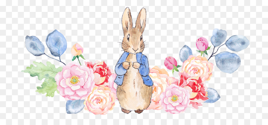 the tale of peter rabbit watercolor painting illustration