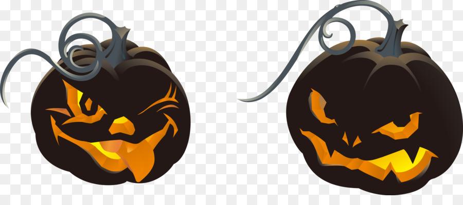 Jack-o-linterna de Halloween Clip art - Vector de horror de calabaza ...