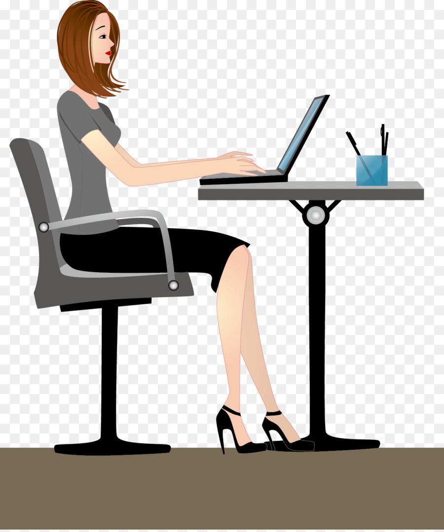 Büro frau clipart kostenlos  Microsoft Office Clip art - Vektor-Büro-Frauen png herunterladen ...