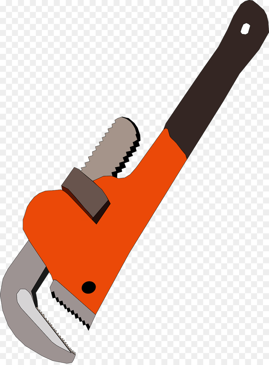 Hand tool Pipe wrench Adjustable spanner Plumber wrench - Orange ...