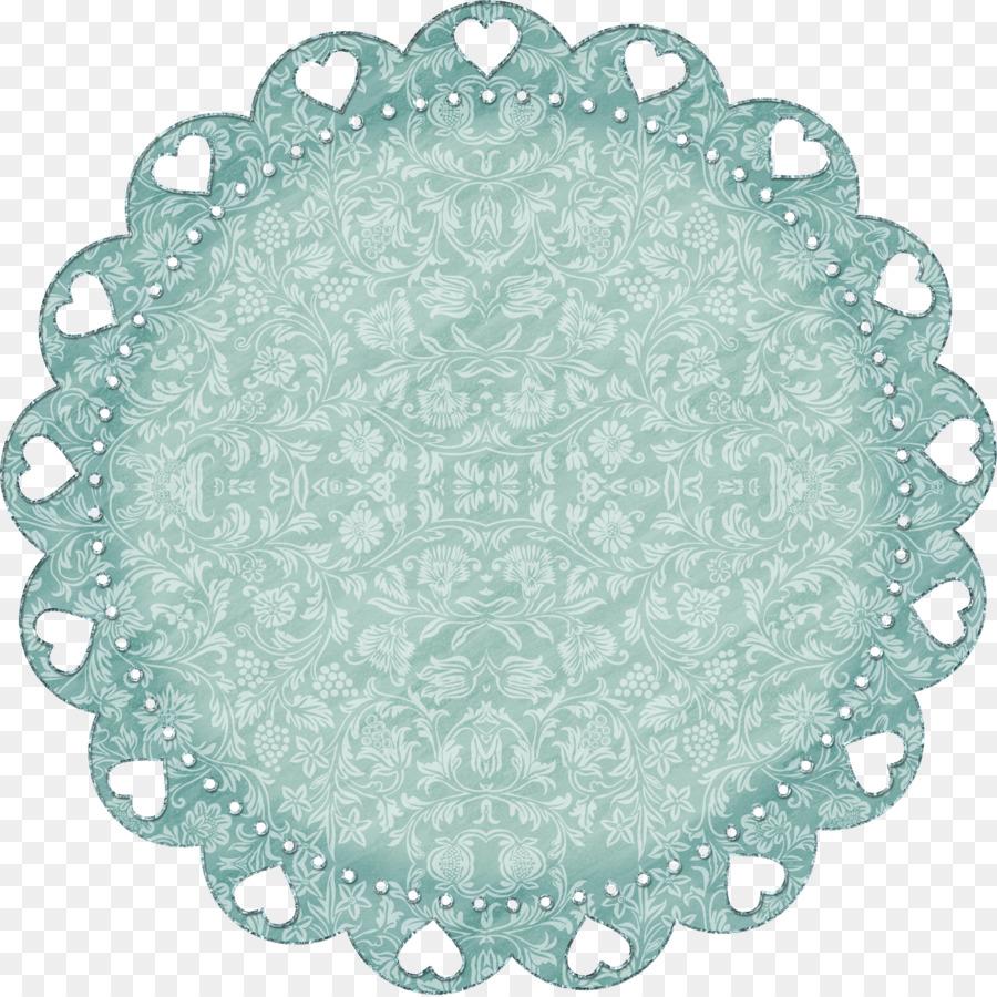 Scallop Circle Template Clip art - Green circle pattern cloth png ...