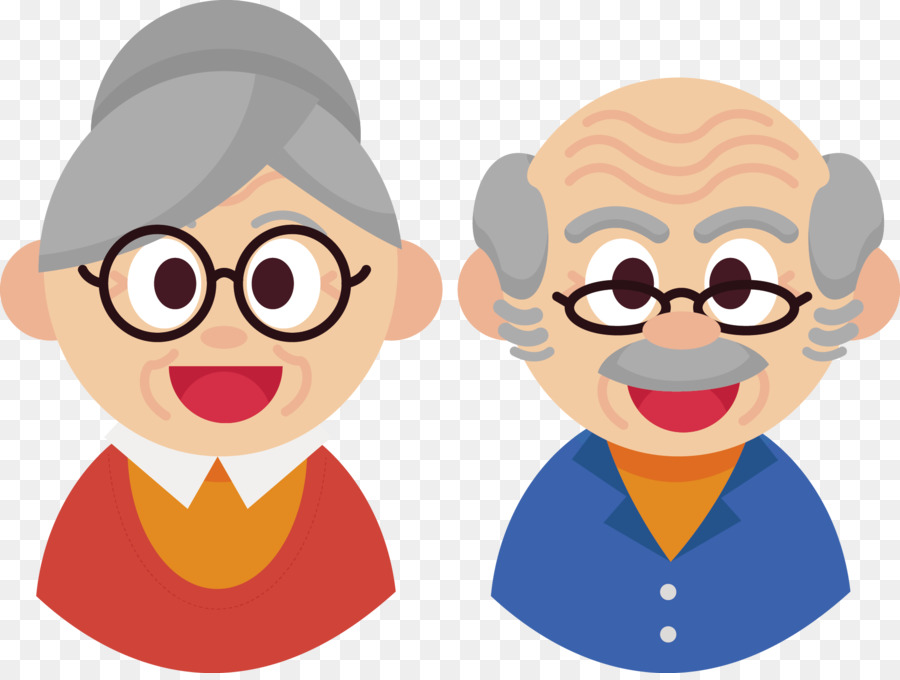 Caras De Abuelitos: Euclidean Vector Grandparent Old Age
