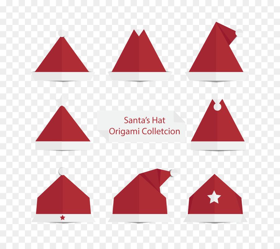 Paper Santa Claus Christmas Origami Vector Christmas Hat Png