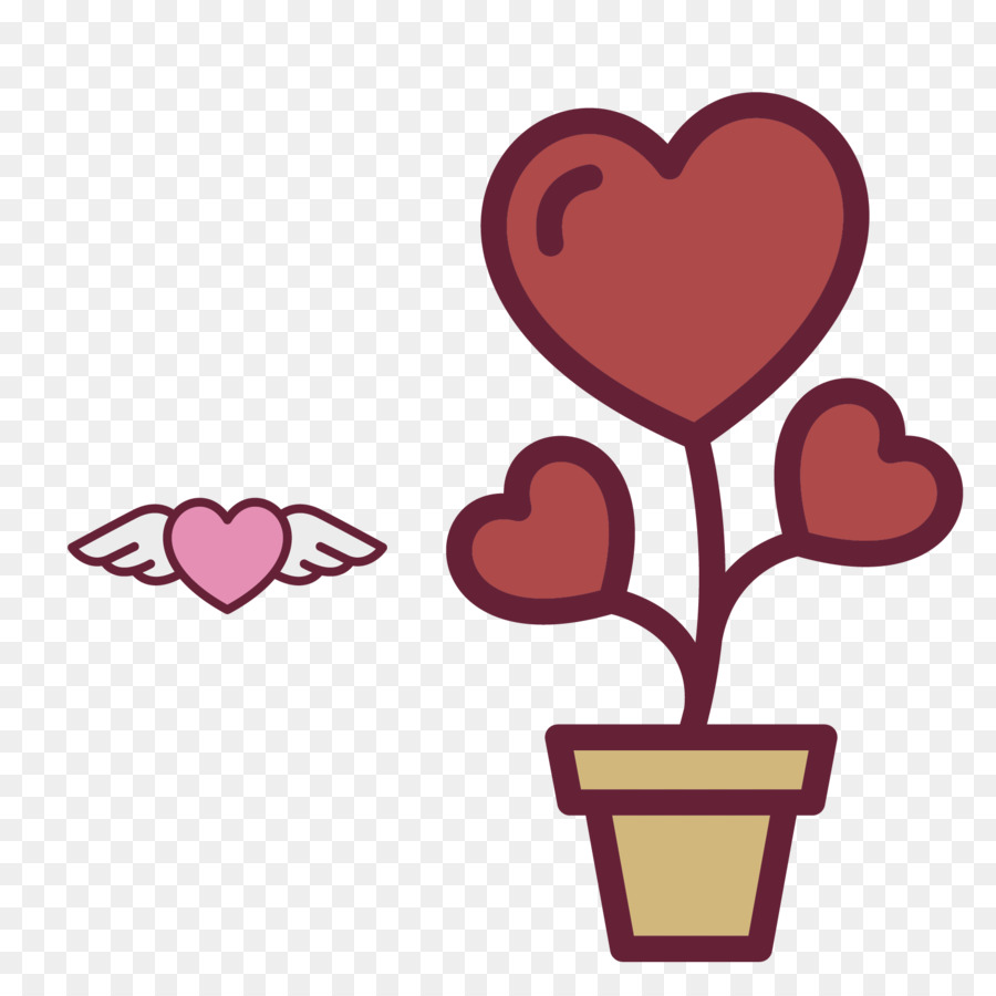 Heart Flower Icon Heart Shaped Flowers Vector Png Download 1667