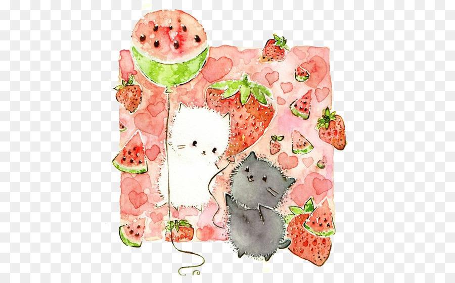 Yavru Kedi Boyama Resimde Suluboya çizim Japon Kitty Png Indir