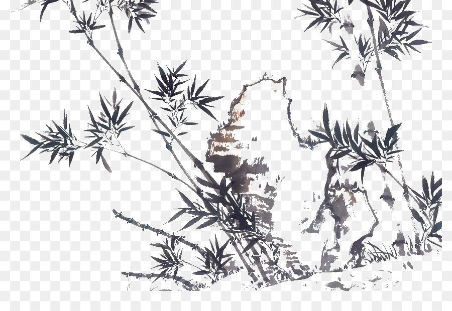 U56fdu753bu5c71u6c34 çin Resim Mürekkep Boyama Kuş Ve çiçek Boyama