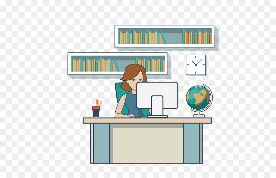 Büro frau clipart kostenlos  Arbeits-clipart - Frauen arbeiten im Büro spät in die Nacht png ...