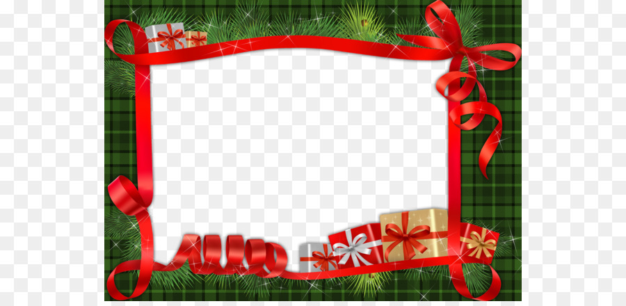 Christmas Picture frame Photography - Cartoon green background red ...