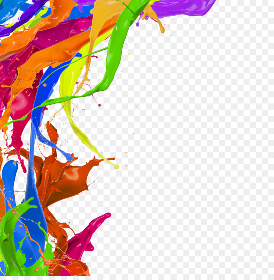 watercolor painting pigment free splash of color pigments pull png