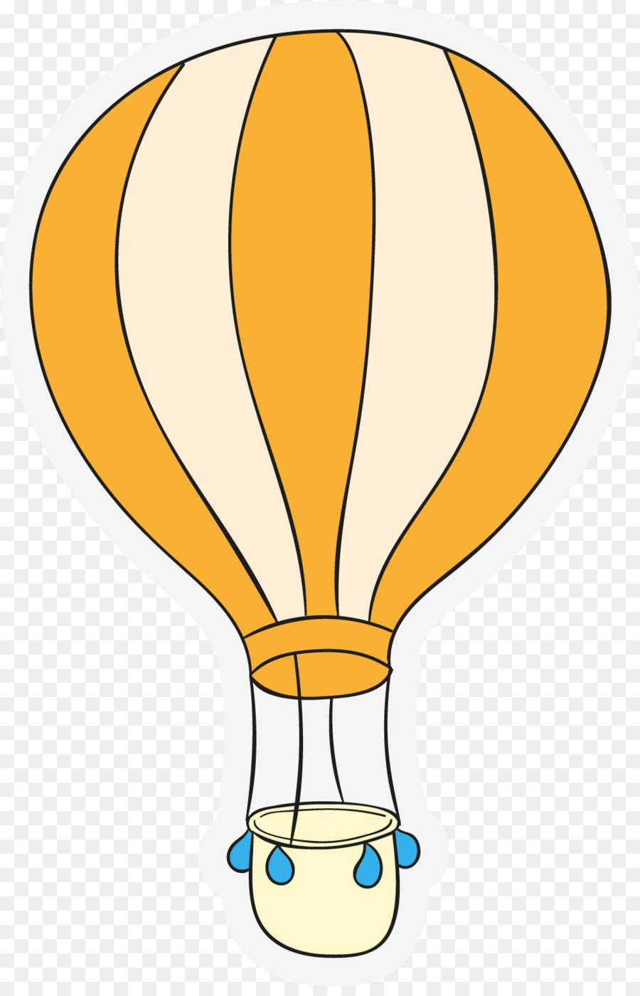 Sıcak Hava Balonu Sarı El Sarı Balon Boyalı Png Indir 10011543