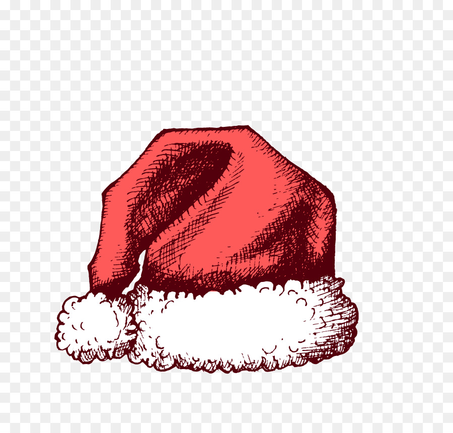 b2ff93291a0c8 Santa Claus Christmas Hat - Hand-painted Christmas hats png download ...