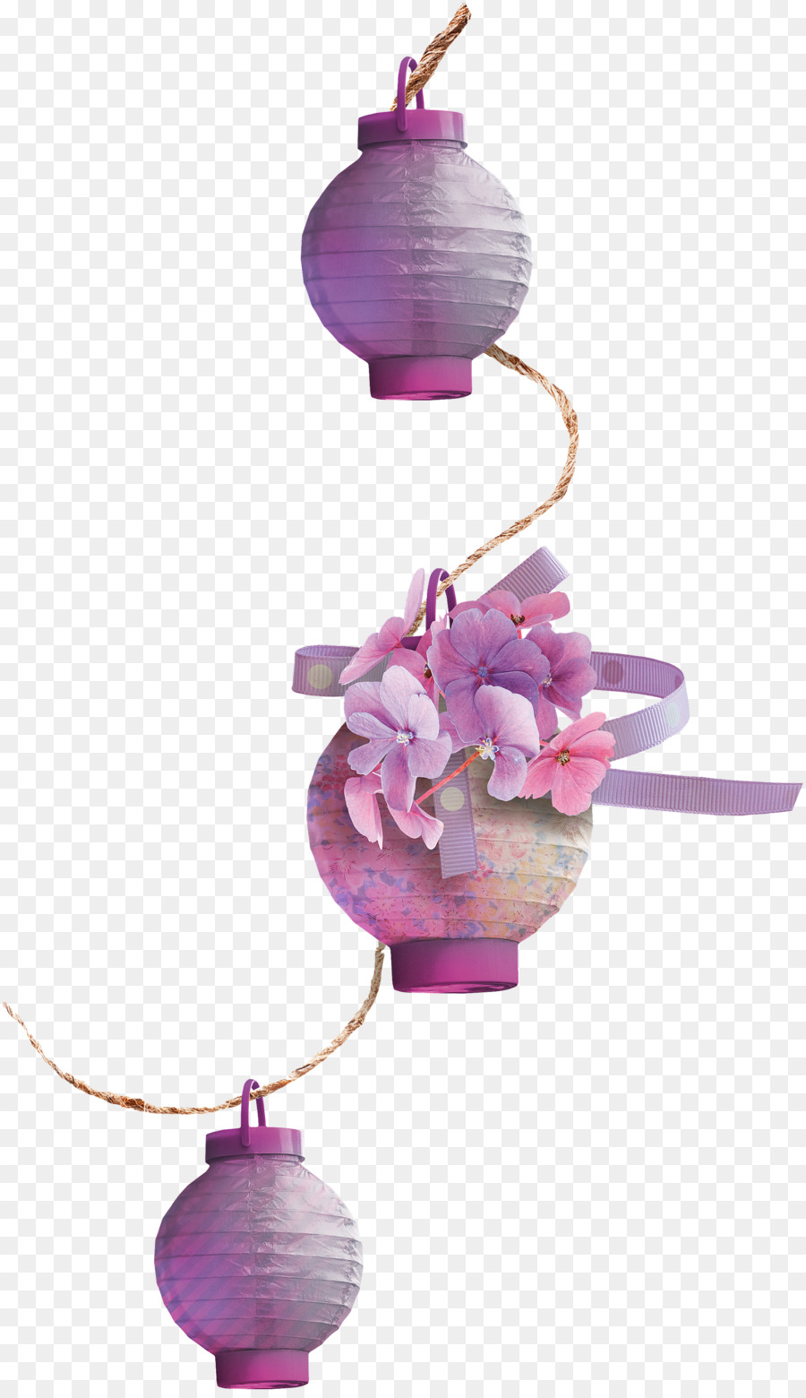 Purple Electric Light Purple Flowers Lamps Png Download 2082