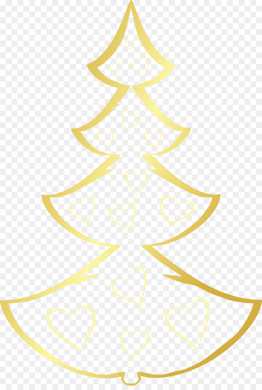 Gold Christmas Tree Png Download 2001 2948 Free Transparent