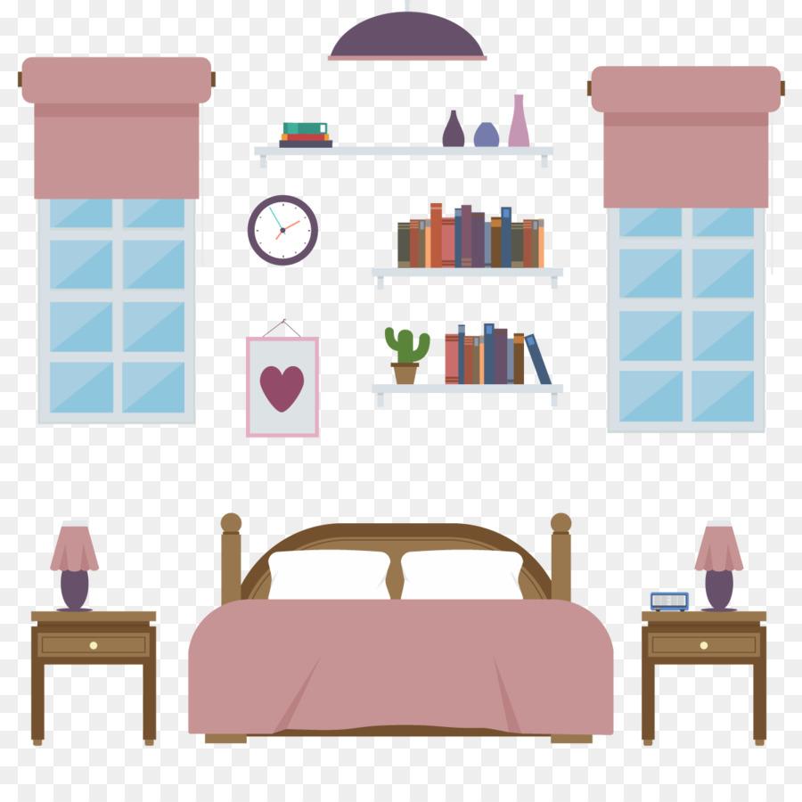 Bedroom Furniture Illustration Vector Beds Png Download 1200