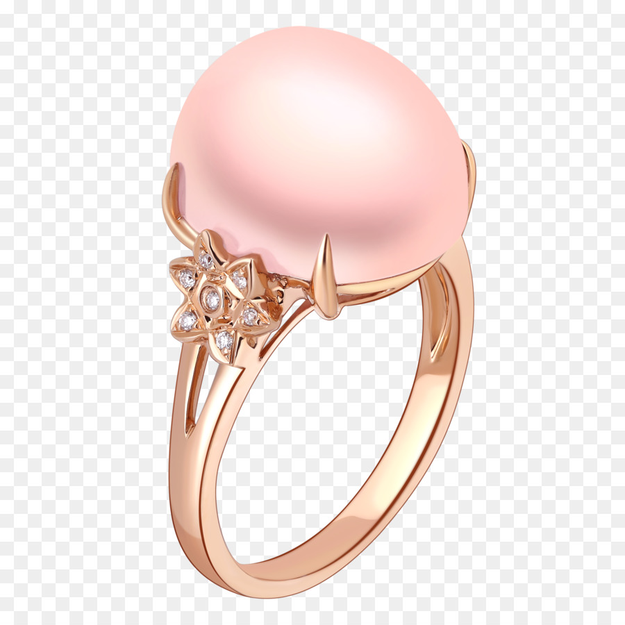 Ring Pearl Diamond Jewellery - Diamond Pearl Ring png download ...