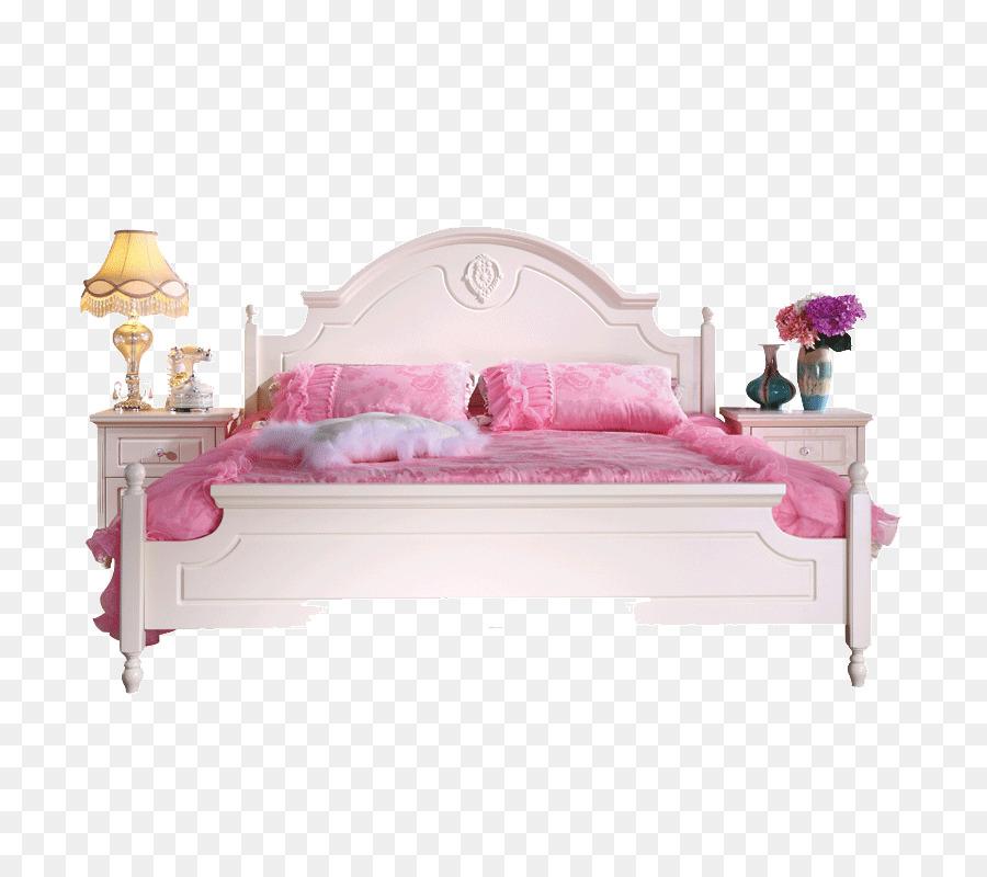 De la hoja de cama Muebles - Cama de madera de Doble Cama de la ...