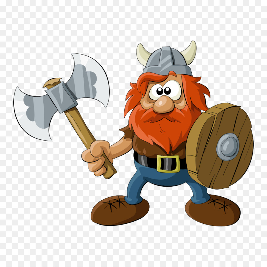 Viking Cartoon Royalty-free Illustration - Vector old ax ...