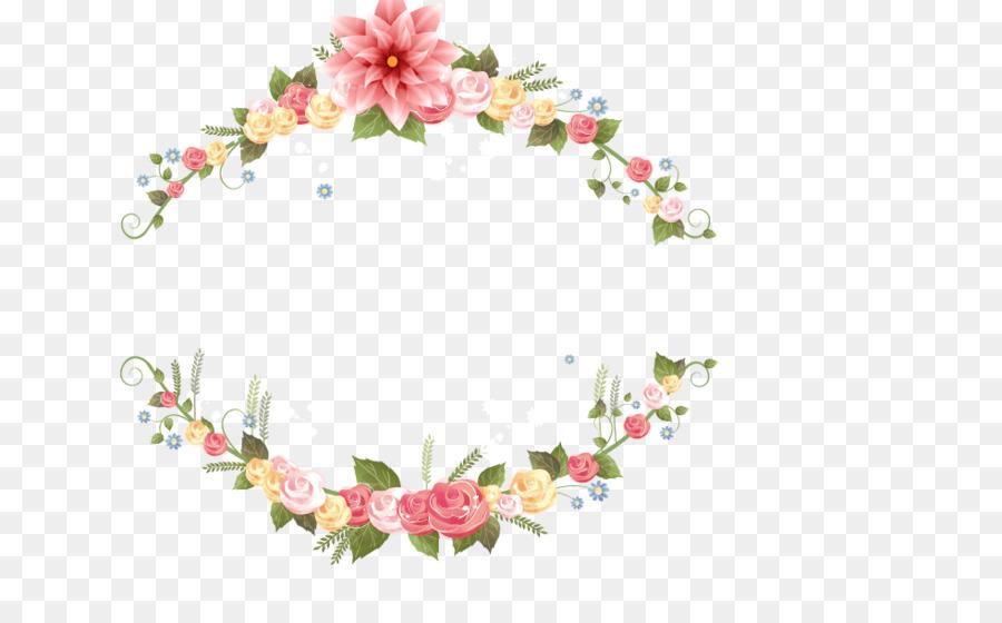 Invitación de la boda de la Flor del marco de la Imagen - Garland ...