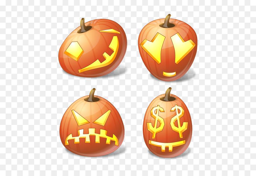 Halloween Jack-o-linterna de Calabaza Icono - Calabaza emoticonos ...