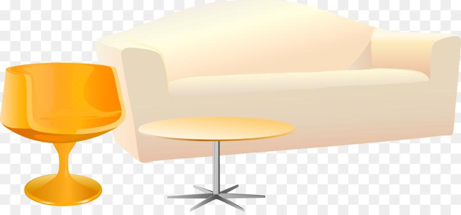 Table Chair Yellow Sofa Vector