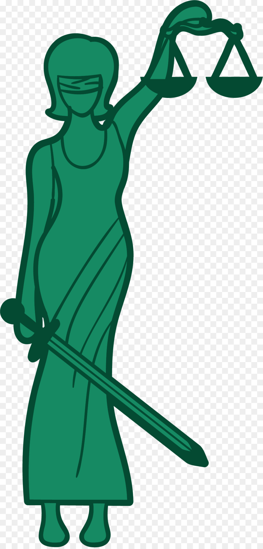 Lady Justice Themis Euclidean Vector Illustration Green Greek