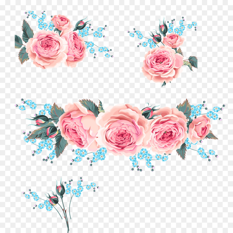 Wedding invitation Flower Rose - Pink Roses,orchid png download ...