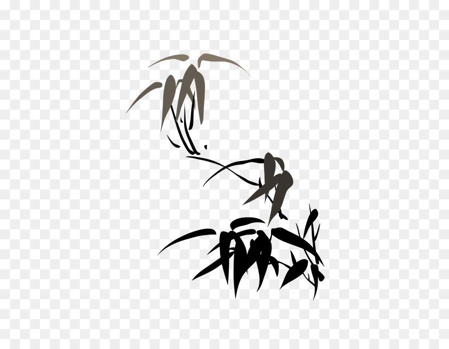Bambus Chinesische Malerei Vier Herren Tinte Malen Von Bambus