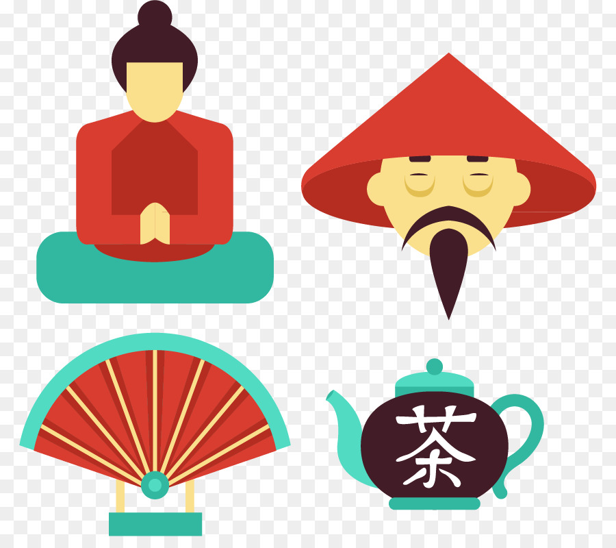 National Symbols Of China National Symbols Of China Illustration