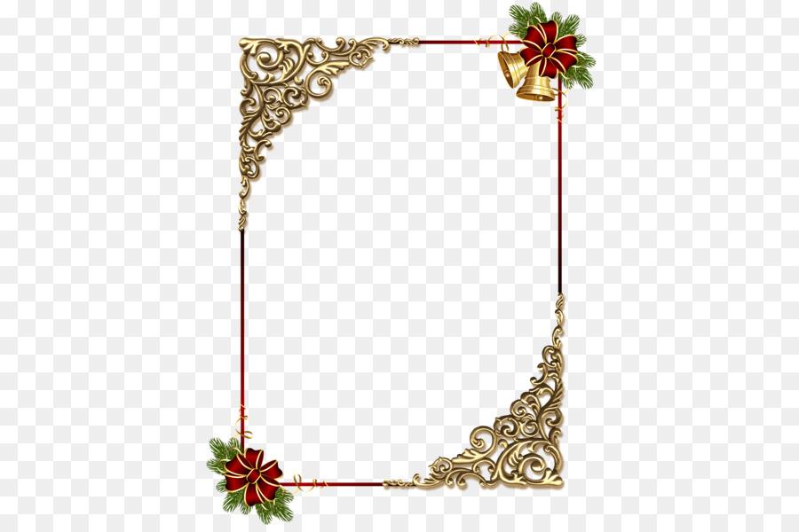 Bordes y Marcos adorno de Navidad de marco de Foto arte de Clip ...