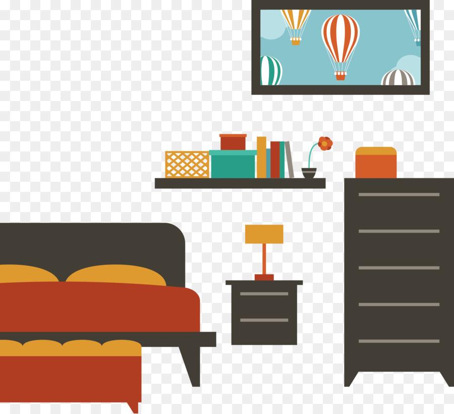 Bedroom Furniture House Bedroom Flat Vector Png Download 2933
