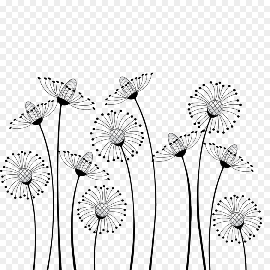 Flower Cartoon Black And White Drawing Clip Art
